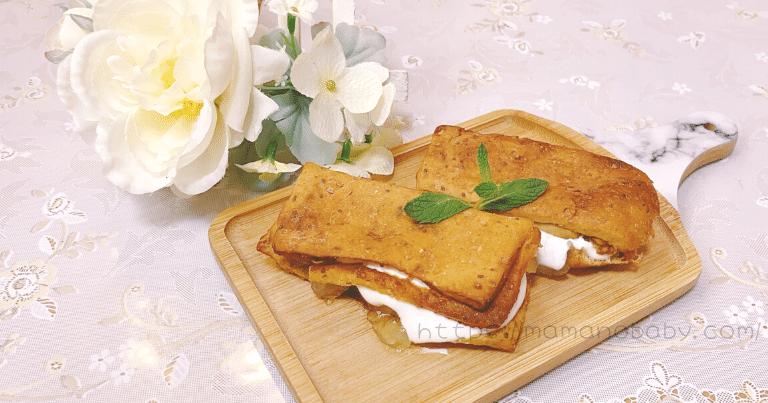 ベースブレッド:リンゴジャムとクリームのシナモンパン